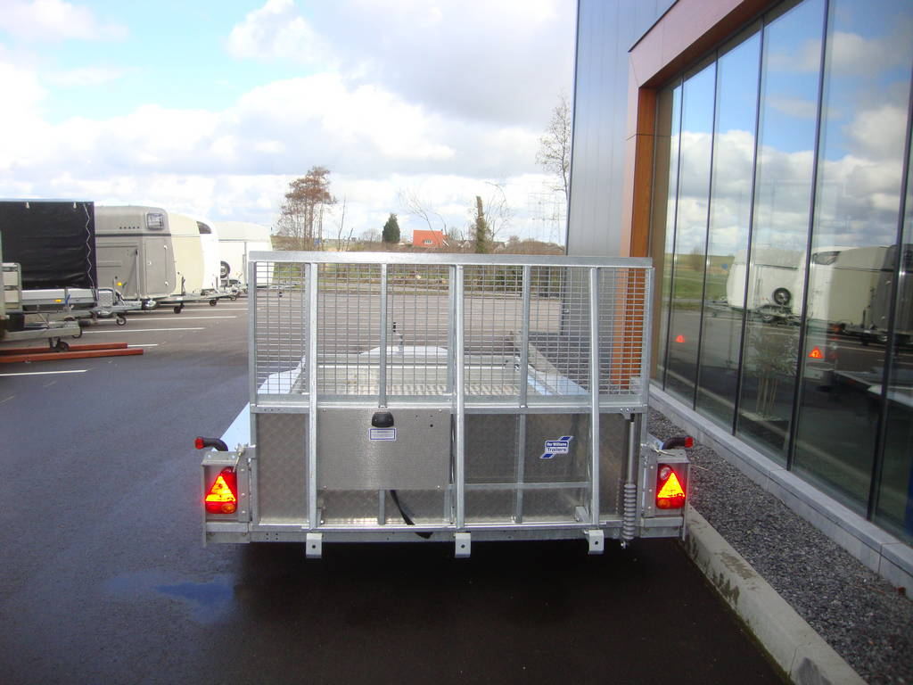 Ifor Williams GX126 machinetransporter 366x184cm 3500kg Ifor Williams transporter 366x184cm 3500kg machinetransporters PAK Aanhangwagens achterkant dicht
