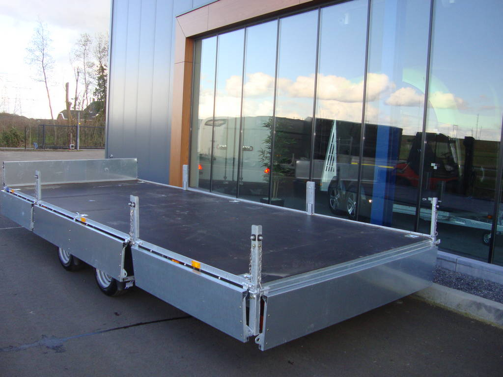 Ifor Williams plateauwagen 547x225cm 3500kg Ifor Williams plateau 547x225cm 3500kg 2-as PAK Aanhangwagens compleet open