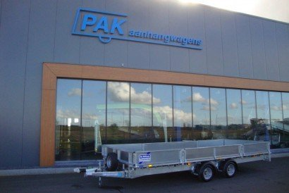 Ifor Williams plateau 547x198cm 2-as plateauwagens PAK Aanhangwagens hoofd